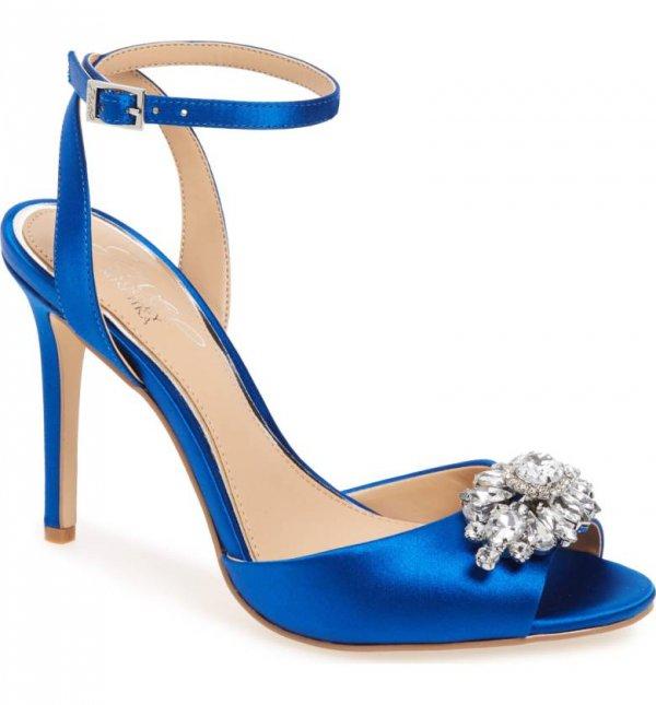 footwear, blue, cobalt blue, electric blue, high heeled footwear,