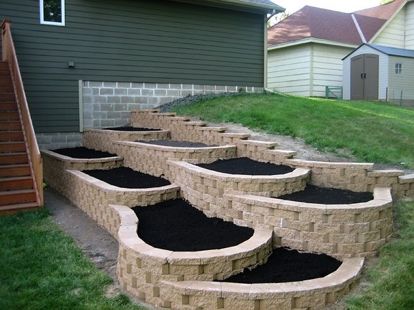 how to build tiered raised garden beds