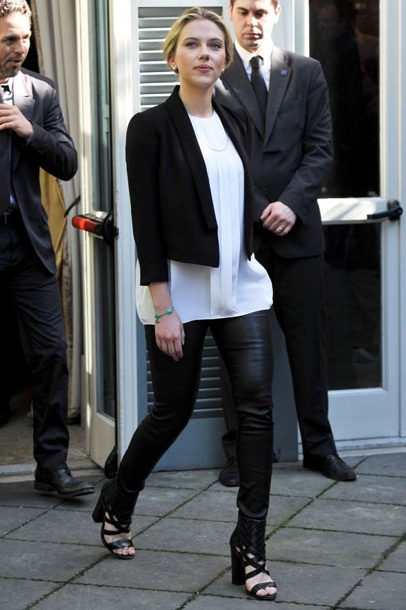 Leather Pants, Cropped Blazer