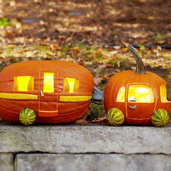 Car and camper pumpkin 🎃 carving ideas 💡 to make you