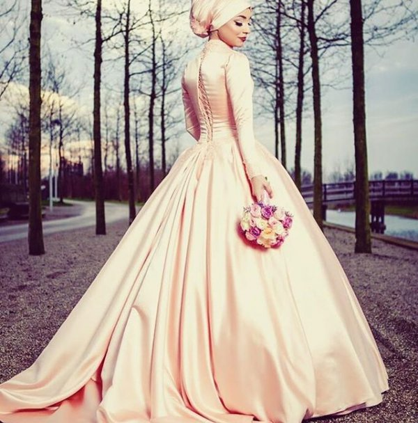 wedding dress, dress, clothing, gown, pink,