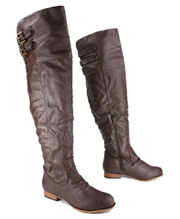 Leatherette over the Knee Boots