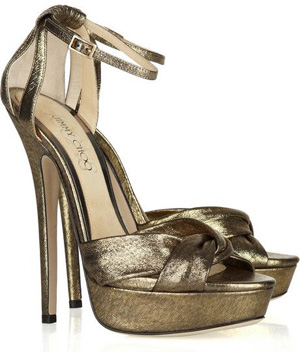 Jimmy Choo Lamé Covered Sandals