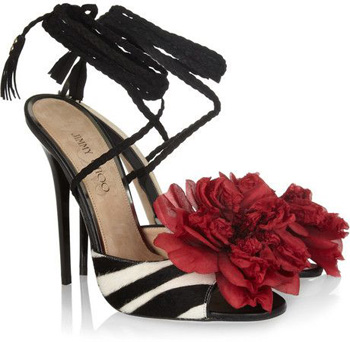 'Faye' Zebra Print Sandals