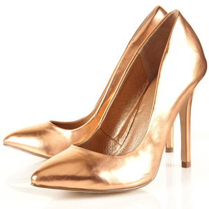 Topshop Game High Pointed Court Shoes