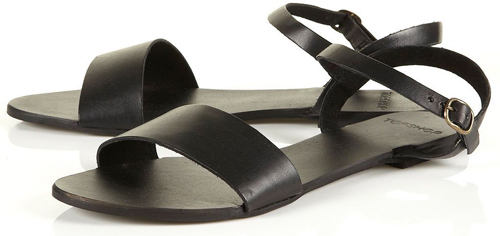 Topshop 'Hoopla' Leather Strap Sandals
