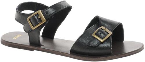 ASOS 'Flutter' Leather Flat Sandals