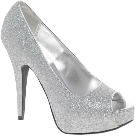 Chinese Laundry Peep Toe Shoe 7 Sexy Silver Shoes For Those