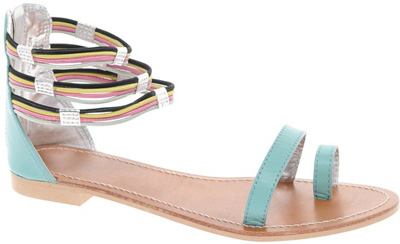 ASOS Fizz Leather Multicolored Sandals