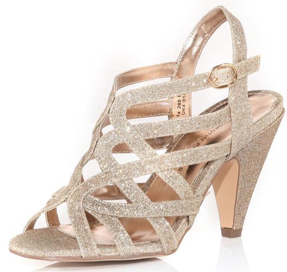 8. Dorothy Perkins Nude Glitter Open Sandal - 9 Stylish Strappy…