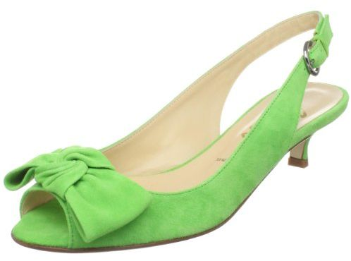 Lime Green Kitten Heel Shoes  Tsaa Heel