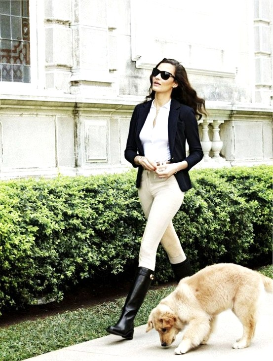 Image is loading Fashion-Womens-Low-Heels-Military-Riding-Boots-Roman