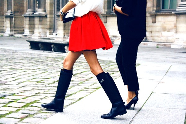 With Minis - 9 Ways to Wear Riding Boots ... Shoes