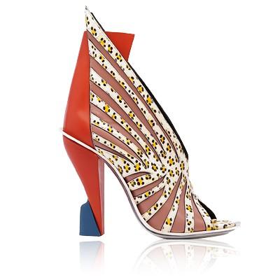 Ladies Color Blocks Unique Wedge Heels High Platform Buckle Ankle Boots Women's Shoes Size:35