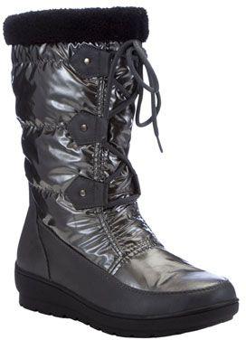 Ela Women's Metallic Pull on Snow Boots