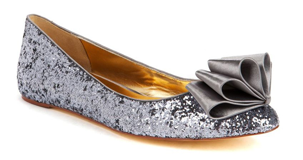 Bow Sparkly Ballet Flats