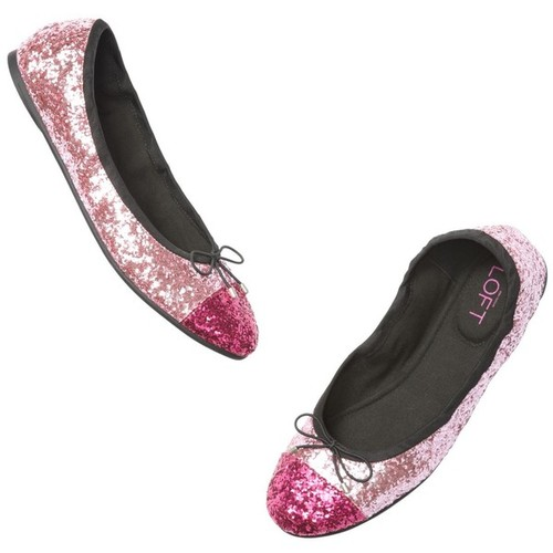 Two Toned Sparkly Ballet Flats