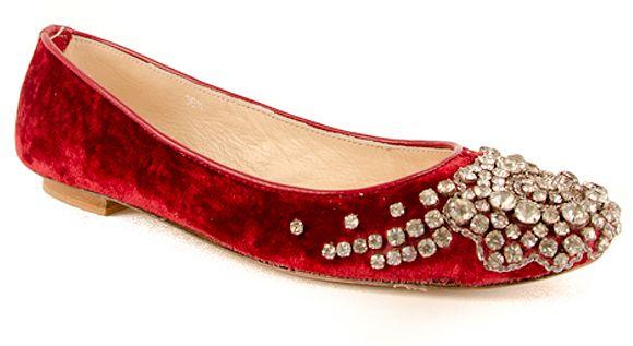 Embellished Sparkly Ballet Flats