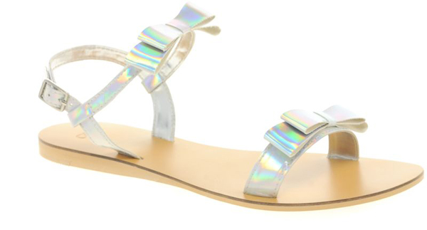 Silver Holograph Shoes