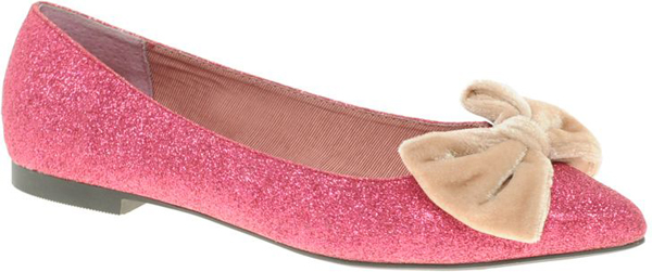 Pointed Toe Sparkly Ballet Flats