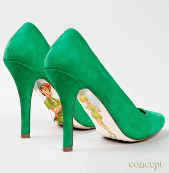 Peter Pan And Tinkerbell Pumps