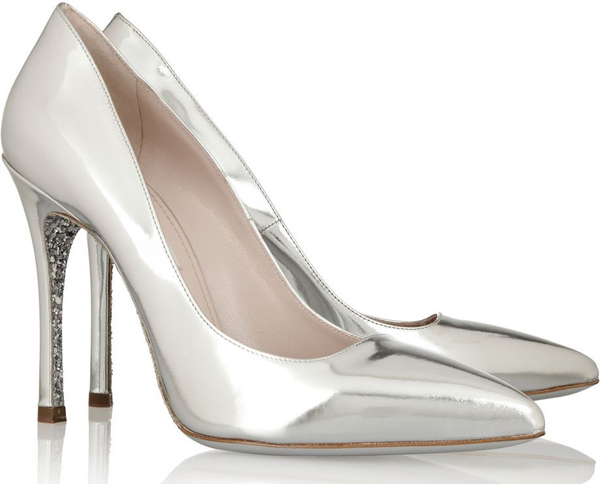 Permalink to Silver Strappy Wedding Shoes