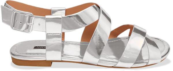 Silver Flat Sandals