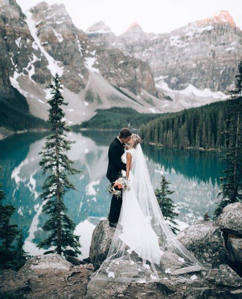 photograph, mountainous landforms, gown, fashion accessory, bride,
