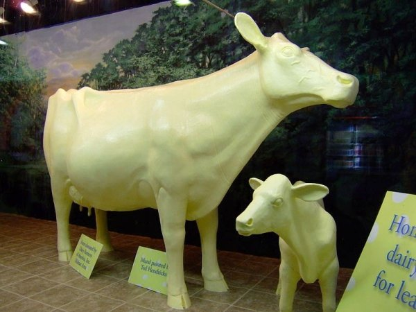 """Say """"Moo"""" to the Butter Cow at Iowa State Fair"""