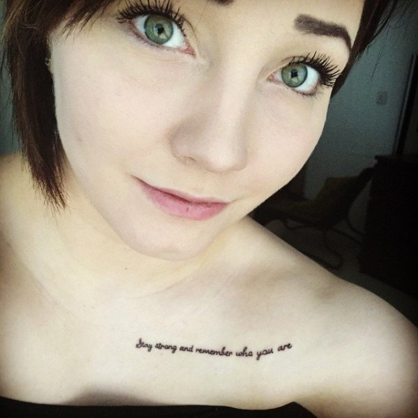 Stay strong and remember who you are 44 quote tattoos for Remember who you are tattoo