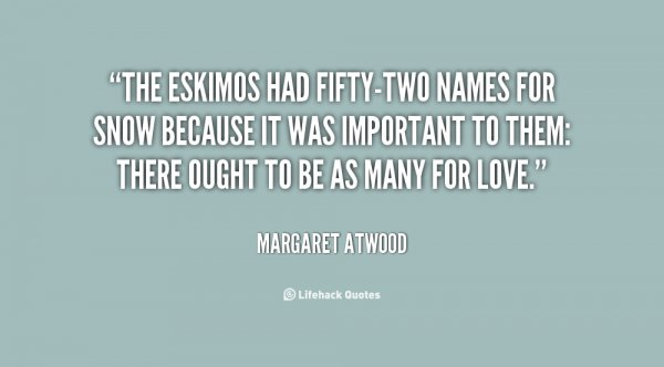 Fifty-two Names for Love