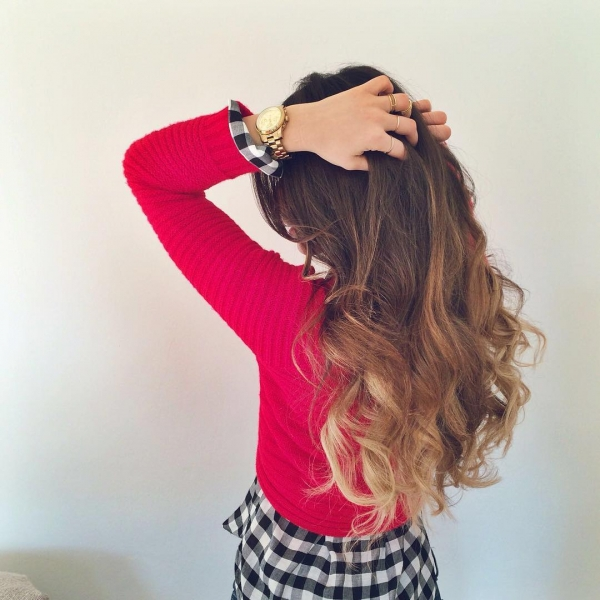 hair,clothing,red,hairstyle,pink,