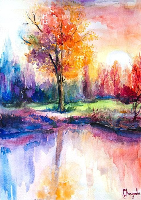 watercolor scene 31 paintings you can copy for your own