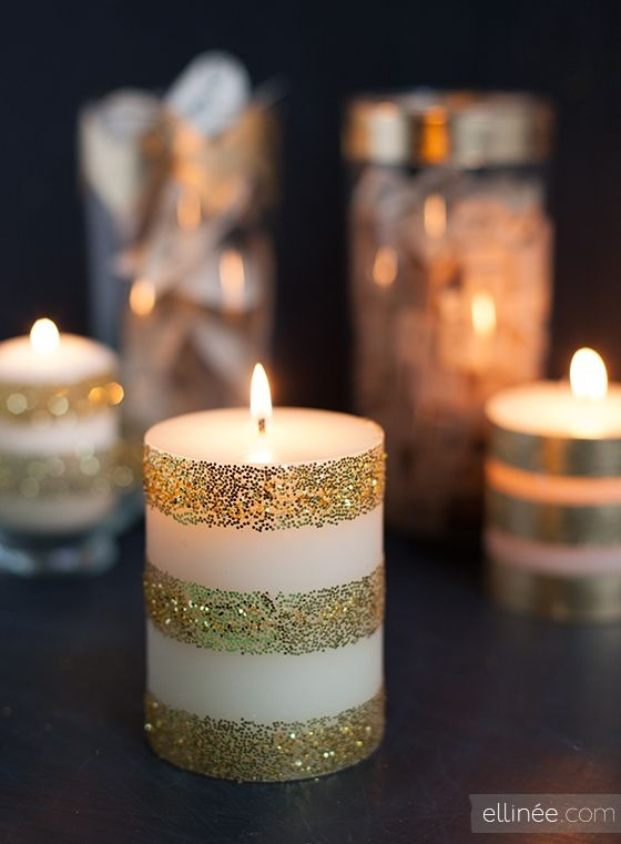 Glam up a Simple Candle