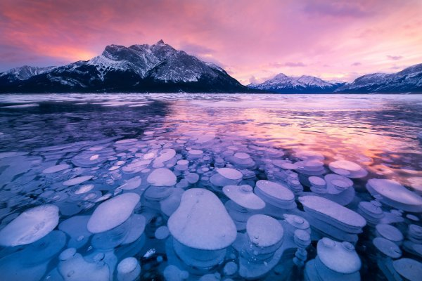 Abraham Lake in Canada