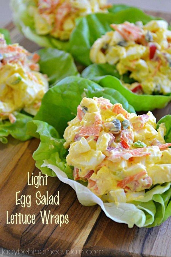 lumi re oeuf salade laitue wraps id es de repas d licieux. Black Bedroom Furniture Sets. Home Design Ideas