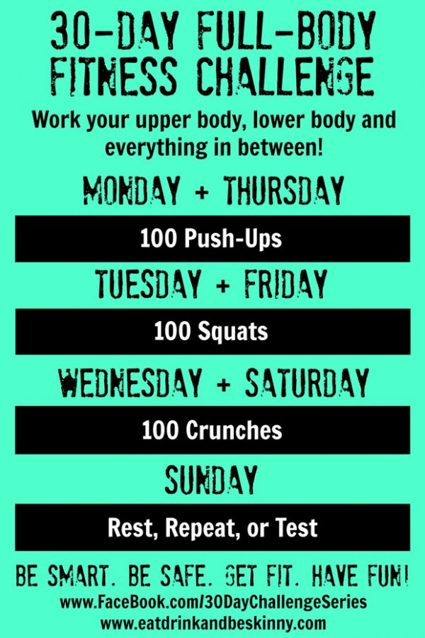 30-Day Full-Body Fitness Challenge