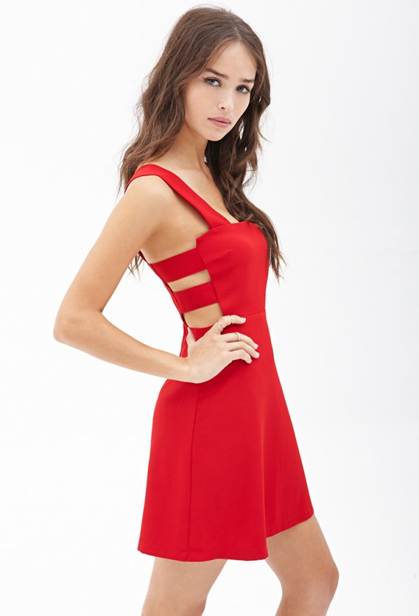 Forever 21 Square Neck Cutout Dress