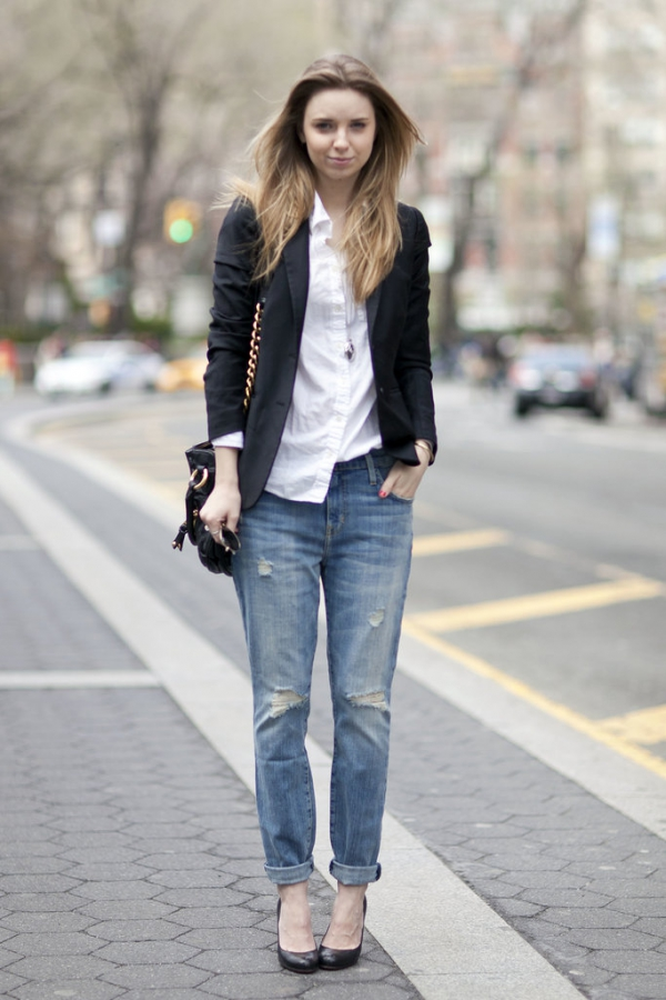 Image result for street style boyfriend jeans