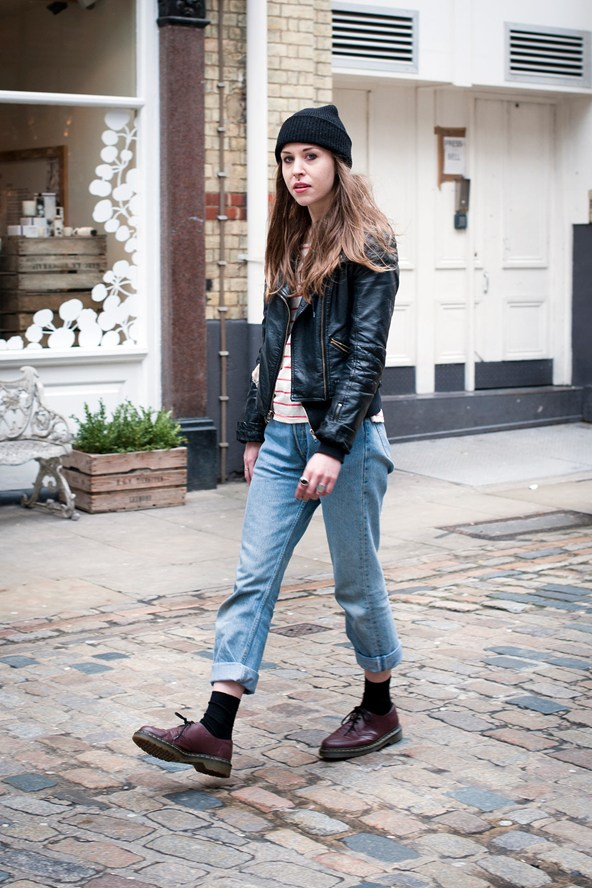 Grunge Inspired - 11 Street Style Ways To Wear Boyfriend Jeans ...u2026