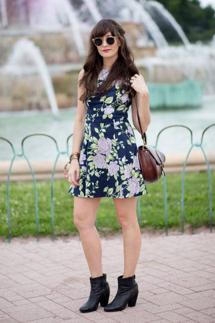 Image result for ankle boots with summer dress