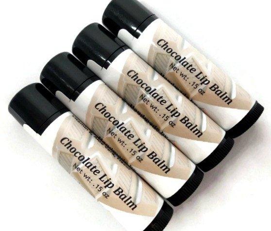 Chocolate Lip Balm, 99% Natural Lip Balm, Flavored Lip Balm, Handmade Lip Balm, Gift under 5