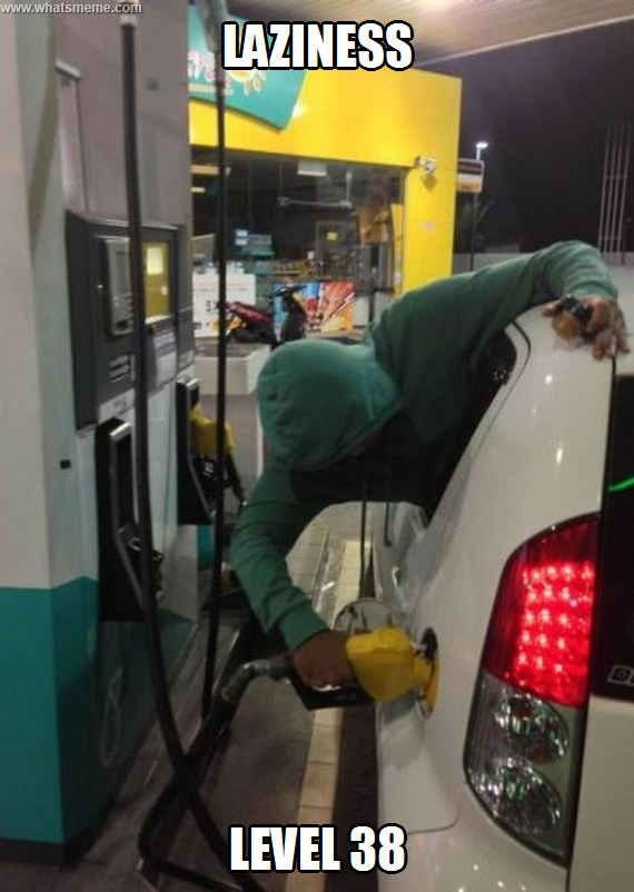 Fill the Car with Gas without Leaving the Car
