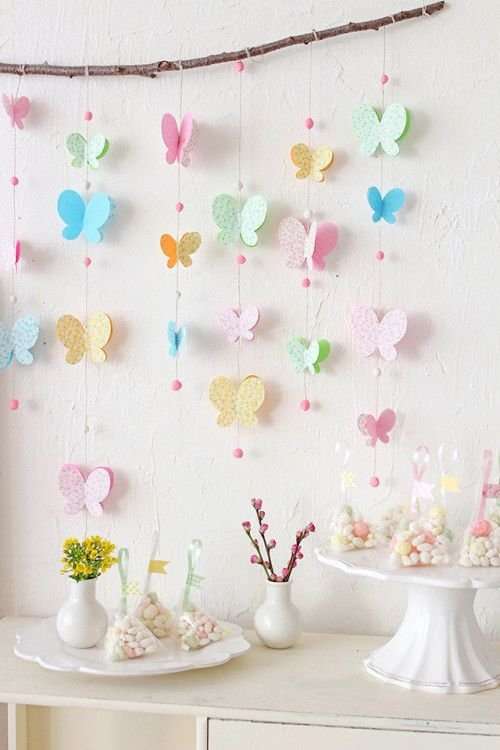 Hang Paper Butterflies from a Branch for a Pretty Backdrop