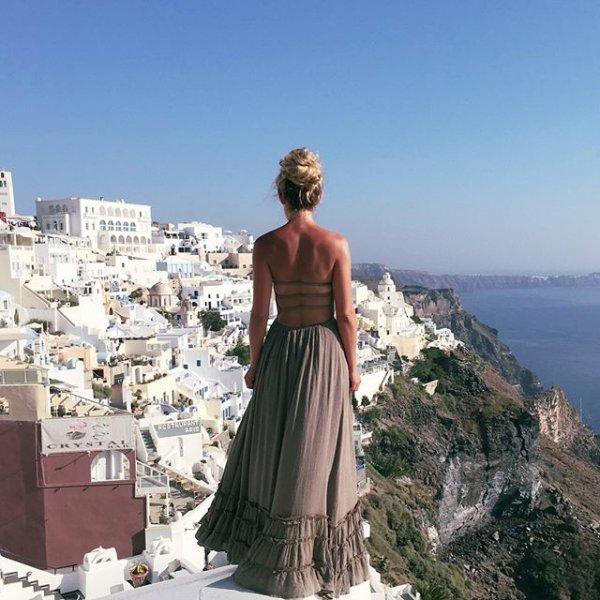 Thíra, clothing, sea, dress, vacation,