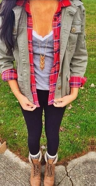 Army Green and Plaid