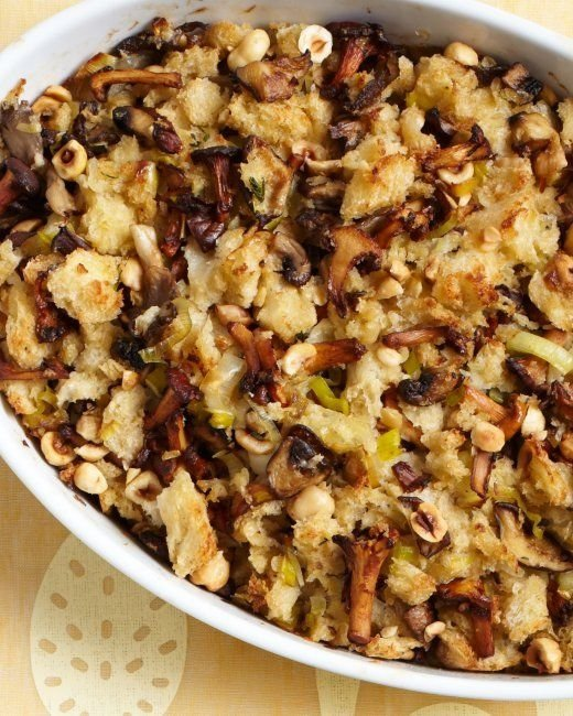 19. Wild Mushroom, Leek and Hazelnut Stuffing - 30 Special Stuffing…