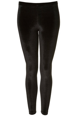 Topshop Velvet Black Leggings