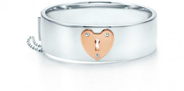 TIFFANY LOCKS HEART LOCK BANGLE