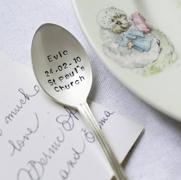 Personalised silver plated christening spoon 31 ideas of all - Gifts for baby christening ideas ...